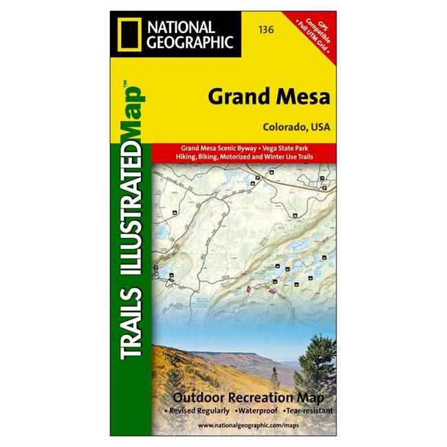 The Grand Mesa Trails Illustrated map is the most comprehensive recreational map for this popular recreation area of western Colorado. Coverage includes Grand Mesa National Forest; Vega Reservoir State Recreation Area; Collbran, Flowing Park, Granby and Rapid Creek reservoirs; Cottonwood and Leon lakes. Ski Areas: Powderhorn. - $11.95