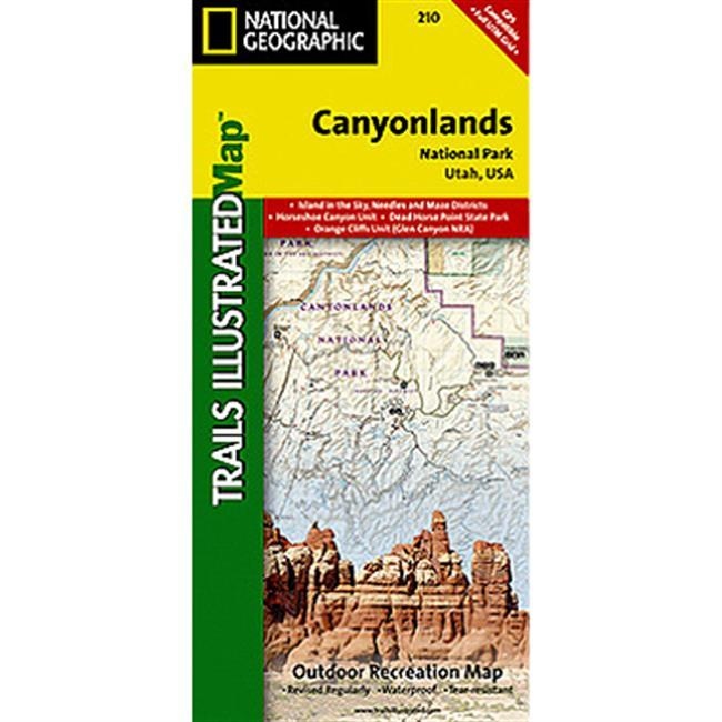Included on the map are Canyonlands National Park, the Island in the Sky district, the Needles district, and the Maze district.  The map also includes the Colorado River, the Green River, Indian Creek Wilderness, Bridger Jack Mesa Wilderness, Butler Wash Wilderness, Canyon Rims Recreation Area, and fascinating information about the park's archaeology.  Ideal for recreation activities in this beautiful area, including hiking, biking, camping, climbing, photography any back country outdoor activity.  Includes UTM grids for use with your GPS unit. - $11.95
