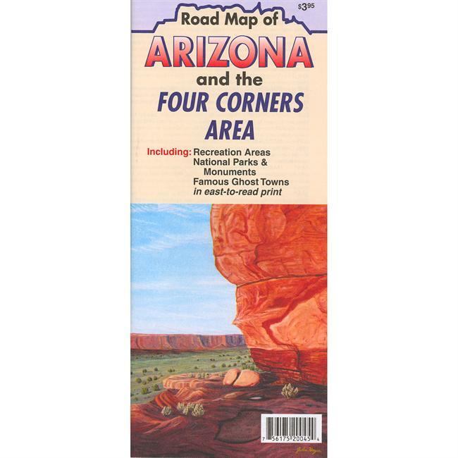 The Arizona Four Corners Recreation Map is a highly detailed map that will have you visiting the Four Corners area as though you have been living there for years. This map includes a huge points of interest section with map coordinates and description. - $4.95