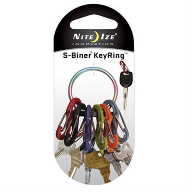 The S-Biner KeyRing features six different-colored, lightweight plastic S-Biners that attach quickly and securely to a sturdy, solid, stainless steel ring. It's easy to hang on hooks or loop through cord. Use one of the plastic S-Biners to attach the whole unit to a second key ring, belt loop, purse strap, or zipper pullanything with a loop or D-ring. The 6 plastic S-Biners the Key Ring comes with are perfectly sized to hold 6 separate keys, their vivid different colors allow you to identify your keys at a glance, and they attach and release from the Key Ring with ease. More S-Biners can be ordered separatelythe Key Ring can hold dozens of them. No more fiddling with split rings or fumbling to find the key you needthe Key Ring is perfect for quick and easy sharing of keys with family members, co-workers, valets, babysitters, and for taking a single key with you when you're out on a run or ride. - $3.99