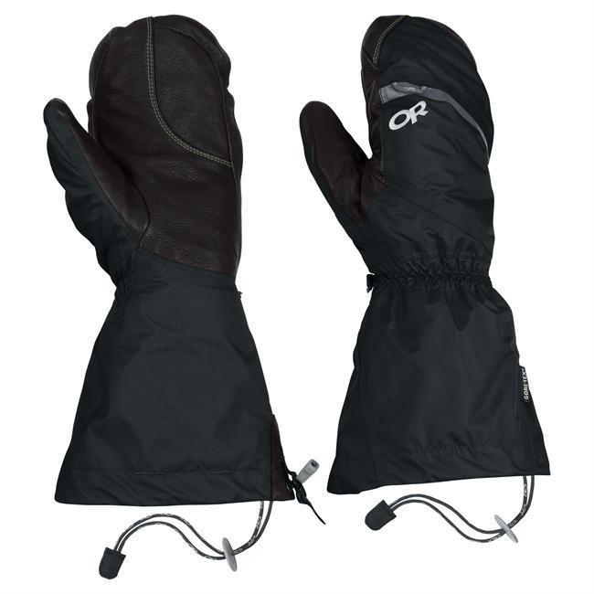 Built for 8,000-meter peaks and Arctic expeditions  stay warm, protected and focused on the terrain in the Alti Mitts. Constructed with breathable and waterproof GORE-TEX, high-loft Moonlite Pile fleece and water-resistant PrimaLoft Gold Insulation, removable liners layer on protection while durable water-repellant Pittards leather palms and Kevlar stitching withstand brutal alpine punishment. - $198.95