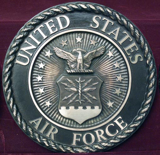 Guns and Military Air Force Plaque