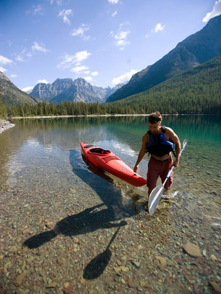 Kayak and Canoe  North Fork region of Glacier National Park