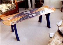Snowboard board table..