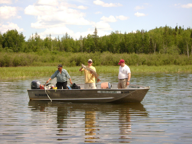 Fishing Cousin Mike and Tom Emil.  Athabasca