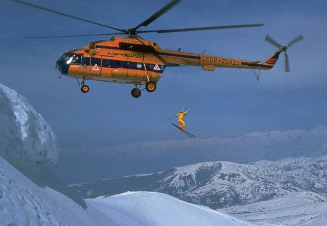 Ski How about some Heliskiing