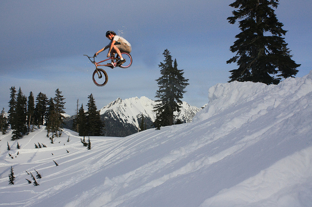 BMX snow biking