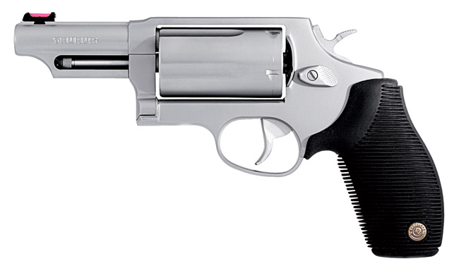 Guns and Military Taurus Judge: Shoots 4-10 shotgun shells and .45 bullets. Perfect for grouse out of your deer stand...