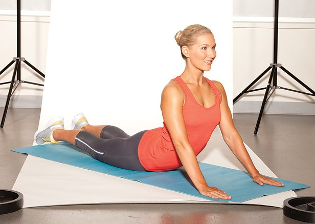 Fitness Don't get bent out of shape! Do this pose today to release tight abdominal muscles.