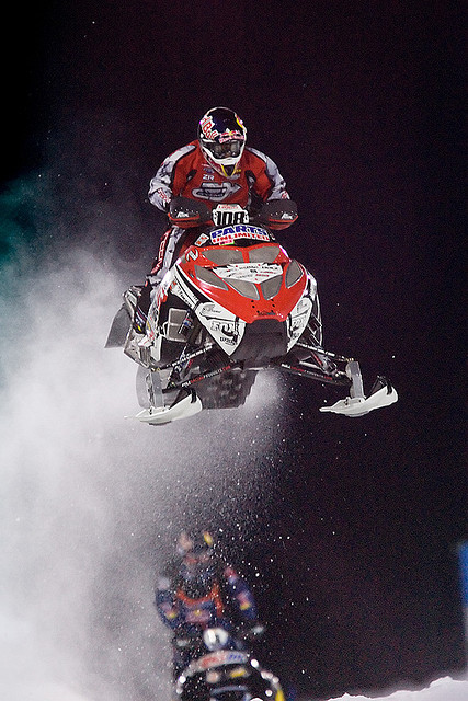Motorsports Snocross racing action