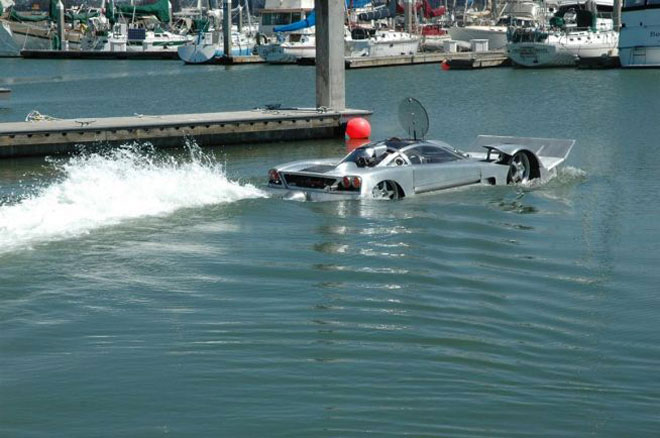Auto and Cycle Meet the Sea Lion. It's an amphibious car capable of speeds of up to 180 mph on land and over 45 mph at sea, and it's all yours for the bargain-basement price of $259,500.