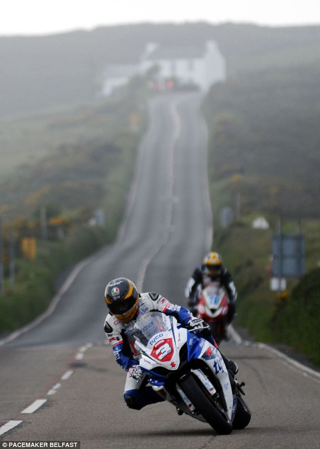 Motorsports Race: Guy Martin on his Tyco Suzuki at Creg Ny Baa during the third Superstock qualifying session for the Isle of Man TT