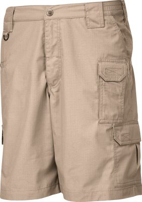 Hunting Made of lightweight, breathable 6.14-oz. 65/35 polyester/cotton ripstop, these shorts resist fading, wrinkles, spills and stains. Durable YKK zippers and Prym snaps for long-lasting durability. Action waist provides stretchable comfort at the job site or for high-movement activities. Imported. Inseam: 9-1/2. Even waist sizes: 28-44. Colors: TDU Khaki, Coyote, Tundra, Black, TDU Green, Dark Navy. Size: 32. Color: Coyote. Gender: Male. Age Group: Adult. Material: Polyester. - $47.99