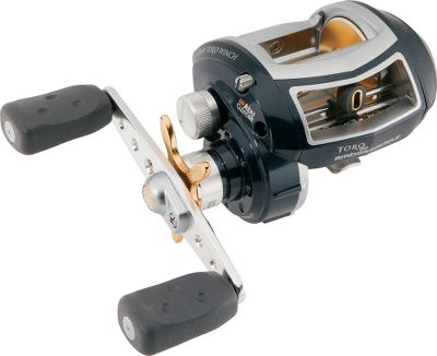 Fishing In freshwater or saltwater, youll find the features of this reel more than able to deliver the fish-subduing power you need. Duragear brass gears with a 4.6:1 gear ratio result in the cranking power that gives the Toro Winch its name. Six HPCR (High-Performance Corrosion-Resistant) stainless steel bearings deliver super-smooth operation, and the single corrosion-resistant instant anti-reverse bearing results in fish-slamming hooksets. An X-Craftic alloy frame and side plate offer additional lightweight corrosion resistance. A smooth-operating Carbon Matrix drag system gives you optimal adjustable control. The Infini II spool design extends castability. Synchronized TiN-coated levelwind lays line evenly on the spool. The Winch holds 40% more line than standard low-profile reels. Other features include a lube port, dual anti-reverse, power handle and extended-throw paddle handle. Available in right- and left-handed models. Color: Stainless. Type: Casting Reels. - $279.99