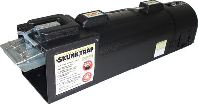 Hunting A safe, effective system for catching and releasing skunks without getting sprayed. Electronic Skunk Trap uses state-of-the-art infrared technology for simple, easy captures without the use of a mechanical trip plate. Low-profile design and dark interior prevents spraying and keeps animal calm during transport and release. Use on squirrels, rodents, chipmunks, rabbits and more. Rugged, heavy-duty polyurethane construction. - $69.99