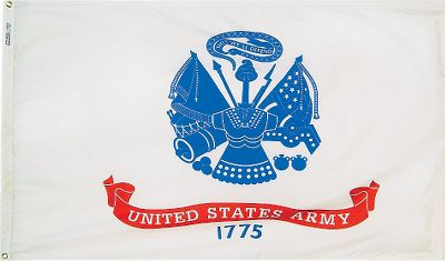 Camp and Hike Fly the flag high support your favorite United States military branch. These flags are made of Nyl-Glo ColorFast nylon fabric, guaranteed fade-free for a full year after purchase. Made in USA. Available: Army, Navy, Air Force, Marine Corps, Coast Guard, Army National Guard, POW MIA. Size: 3 ft.L x 5 ft.W Color: Navy. - $39.99
