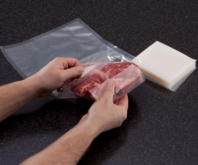 Its frustrating when youre vacuum packaging meat or fish for storage, only to have a piece of bone puncture the bag, forcing you to start over. Solution: Just place a sheet of Bone Guard over the bone or any sharp edge to prevent punctures and leaks. The heavy-duty 6-ml.-thick material provides the ultimate in bag protection. Each sheet is 4.5 x 5 in size and clear for full product visibility. Bone Guard works with all suction and chamber-type bags and vacuum packaging machines. 150 sheets per box. Color: Clear. Type: Accessories. - $12.99