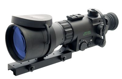 Hunting The Aries MK-410 Spartan is a top-of-the-line Generation I scope with 5X magnification and sharp Red on Green reticle. Titanium mounting system is light and tough. Only the purest grades of heavy glass and computer-aided optical designs are used to create multi element, high-aperture, multicoated lenses for ultrafast light transmission and resolution beyond current military standards. All Aries scopes use the best hand-selected image-intensifier tubes and high quality materials ranging from titanium to aircraft-quality aluminum. These nightvision scopes have illuminated reticles, adjustable front focus, internal click adjustments, top-quality O-rings, a hard exterior finish and are nitrogen-purged for complete resistance to internal fogging. Each comes with a soft case, batteries, user guide and all hardware necessary for solidly mounting to any standard 7/8 Weaver-style rail. Two-year warranty. Due to popular demand from our varmint-hunting customers, we have found some of the best nightvision riflescopes available. Cabelas does not condone the use of these products for illegally taking big-game animals after legal shooting hours. Check local game laws for legality in your area. Color: Titanium. - $569.99