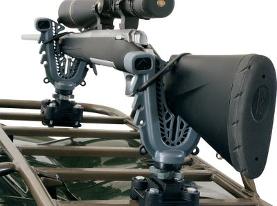 Automatically adjusts to the shape and size of your gear, and the weight of the equipment locks it in to place. Recoil and vibration are isolated to protect your gear on the trail. Improved tubular and composite mounting system offers effortless installation. Finger knobs allow for quick mounting and removal without tools. V-Grip mounts to your ATV handlebars or racks for secure and safe gear transport. Imported. Available: Single rack mount Double rack mount Single handlebar mount Size: HANDLEBAR. Type: ATV Gun Mounts. - $22.49