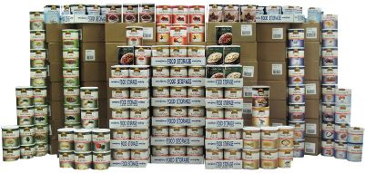 Cover every meal from breakfast to dinner with this one-year supply of delicious, nutritional products from Augason Farms. Best-selling products provide enough nutritional power to feed four people, each on a 1,400 calorie/day diet. Kit contains 360 cans of various fruits, veggies, dairy and grains in solid, liquid and powder form.Made in USA. - $4,499.99