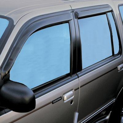 These window vents not only add a custom look to your truck or SUV, they also reduce window fogging and help circulate air in all types of weather. Custom design gives an OEM fit and look. Easy to install without drilling. Vents attach using 3M foam-adhesive tape. Color: Smoke. Color: Smoke. - $29.99