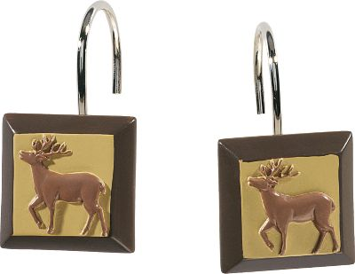 Hunting From the big woods of northern Maine to the deep saw grass and hammock swamps of Florida, these adaptable animals are a prevalent part of the North American wilderness. Now they will inhabit your bathroom with their notorious stealth and grace. These shaped-resin shower hooks add the perfect finishing touch to your bathroom dcor. Per 12. Imported. - $14.99