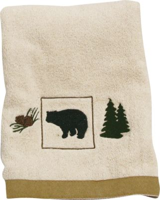 Fishing Bring a touch of the great outdoors into your home or cabin with the vintage feel of an upscale fishing or hunting lodge. Shades of green, brown, rust and tan easily blend into your dcor. The plush terry towels have a faux-suede trim. Imported. Dimensions: 26L x 16W. Color: Green. Type: Hand Towels. - $8.88