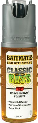 Fishing Baitmate Classic is a favorite of fishermen everywhere. This classic spray formula has three ingredients to help trigger strikes. First, pheromones genetically stimulate fish and trigger predatory instincts. Second, natural fish oils provide scent fish can't resist. And third, anise oil covers undesirable scents that may repel fish. Made in USA. Available: Classic Bass, Classic Catfish, Classic Crappie/Panfish. Color: Natural. Type: Attractants. - $5.29