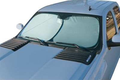 This handy shade pops open in an instant and folds down to a 10th of its size for easy storage. The durable nylon blocks 99% of damaging UV rays to protect and cool your vehicles interior. Each size includes two separate panels that can be used horizontally or vertically to fit your vehicle. Sizes: Standard (25 x 28), Jumbo (28 x 31). Type: Sun Shades. - $9.99