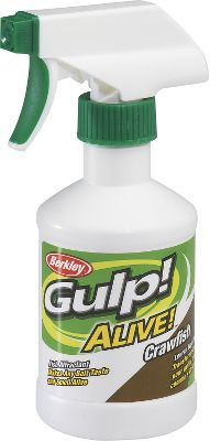 Fishing Berkleys Gulp! Alive! Spray makes any bait taste and smell alive. It enhances the effectiveness of hard baits, spinnerbaits, soft baits or even live bait. It outperforms oil-based attractants, leaving a potent scent trail in the water that causes fish to strike and hold on. This patented formula comes in multiple fish-catching flavors, allowing you to exchange tastes and smells as fishing conditions demand. If you want bone-crushing strikes no matter which bait you choose to use, then Gulp! Alive! Spray should be in your tackle box and on your lures and baits. 8 oz. Available: (001)Garlic, (002)Crawfish, (003)Night Crawler, (004)Crab, (005)Herring, (006)Shrimp, (007)Squid, (010)Menhaden, (012)Shad/Shiner, (013)Minnow. Type: Attractants. - $8.99