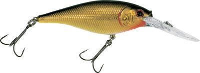 Fishing Designed by pros for optimal action, the Berkley Flicker Shad has a unique rattle and extra-sharp black-nickel hooks for solid hooksets. Per each. Sizes: 1.6 (4cm), 1/8 oz., Dives 6-8 ft. 2 (5cm), 3/16 oz., Dives 9-11 ft. 2.4 (6cm), 1/4 oz., Dives 10-12 ft. 2.75 (7cm), 5/16 oz., Dives 11-13 ft. 3.5 (9cm), 1/2 oz., Dives 11-13 ft. Colors: (001)Black Gold, (002)Black Gold Sunset, (003)Black Silver, (004)Blue Tiger, (005)Chartreuse Pearl, (011)Black Silver Flash, (012)Red Tiger, (013)Shad, (015)Purple Tiger, (016)Chrome Clown, (021)Firetiger, (062)Uncle Rico, (084)Pearl White. Cabelas-exclusive colors: (007)White Tiger, (022)Orange Tiger, (201)Lime Couger, (216)Blue Scale Shad, (261)Pink Couger, (512)Tennessee Shad, (529)Dirty Craw, (536)Chartreuse Growler, (684)Blue Growler, (685)Glow Purple Growler, (691)Retro Shad, (829)Perch, (852)Reverse Cougar, (913)Sick Perch,(949)Purple Cougar. Color: Chartreuse. Type: Crankbaits. - $3.99