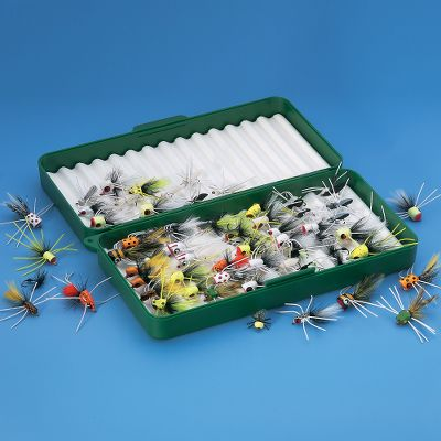 Flyfishing This 32-Piece Popper Fly Assortment will allow you to discover the breathtaking action of exciting topwater fly-fishing. This giant assortment includes poppers, surface flies, minnow imitations, frogs, stoneflies and much more. Everything you need for spittin', splashin' surface action for bream, bluegills, smallmouth bass, largemouth bass, crappie, etc. (Shown with fly box). Available: Assortment Only. Gender: Male. Age Group: Adult. Type: Fly Assortments. - $69.99