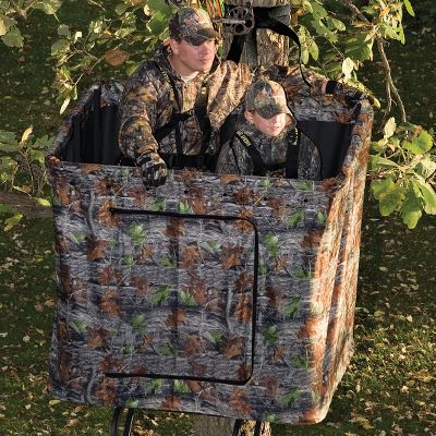 Hunting Designed for the Partner Pro and Partner Plus Two-Man ladder stands. Easily fastens with two bungee cords and Velcro wraps. Door opening dimensions are 30 x 30 . Matrix camo. Color: Camo. Type: Treestand Blinds. - $99.99