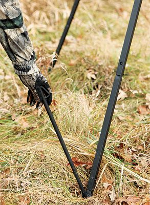 Hunting Lets you position your Big Game Treestands quad-pod-style feeder just about anywhere. Includes four adjustable leg pieces and four stakes for secure installation. Type: Feeder Accessories. - $14.88