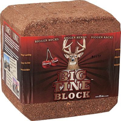 Hunting Increase herd size and give the deer in your area the nutrition necessary to grow bigger racks. The irresistible cherry scent attracts deer from miles around, and once they taste the signature blend of minerals, they keep coming back. Size: 25-lb. block. Color: Cherry. - $11.88