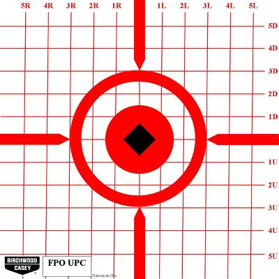 Hunting The high-visibility orange aiming pattern is easy to see at even the longest distances. The 1 square grid pattern ensures precise windage and elevation adjustments. Extra-large 12 x 12 size. Heavy-duty, tear-resistant construction. Per 10. Color: Orange. - $6.99