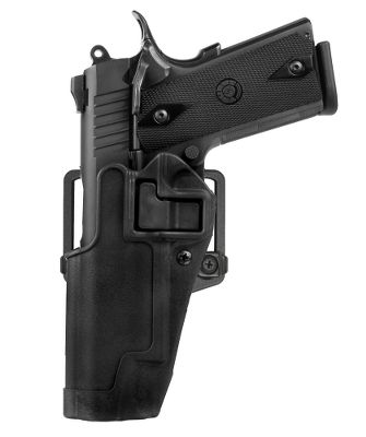 Guns and Military Thumb breaks can slow your draw and get in the way when you re-holster. But you wont experience those drawbacks with BLACKHAWK!s patented SERPA Technology. It engages the trigger guard as you holster your firearm and secures it until you release using the normal drawing motion with your trigger finger alongside the holster. No snaps or straps to get in the way. Can be worn on a belt or used as a paddle holster. Item note: Will not fit any .357 J-Frame Revolvers. Gender: Male. Age Group: Adult. Type: Tactical. - $49.99