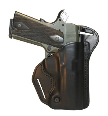 Entertainment This holster rides behind the hip or on your back, providing speed, comfort and easy concealment. Its contoured, close-to-the-body design is cut for a combat grip. Molded sight track prevents snags. Premium, double-stitched leather construction. Adjustable tension screw. Dual belt slots. Imported. Color: Black. Color: Black. Type: Concealed Carry. - $59.99