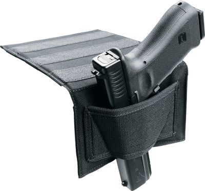 Entertainment Mounting platform slips between mattress and box spring to hold pistol on the bedside for rapid access. Nonslip material on platform provides added stability. Universal-fit, ambidextrous holster allows use with most revolvers and semiautomatic handguns. Made in USA. - $34.99