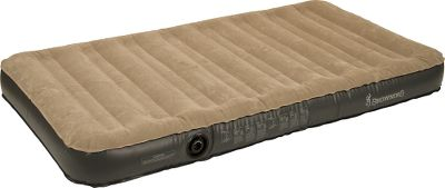 Camp and Hike Top-of-the-line coil construction provides superior sleeping comfort and seasons of tent-camping durability. Built of heavy-duty PVC to withstand the outdoors, and its flocked top adds a linen softness that keeps you from sliding around. This air bed comes with a compact, rechargeable air pump that inflates and deflates the mattress in seconds. No extension cord is needed since it includes its own rechargeable battery, car charger and wall charger. For indoor or outdoor use. Factory inspected. Includes carry bag for storage. Imported. Available: Twin Dimensions: 74L x 39W x 8.5H. Weight: 10 lbs. 10 oz. Queen Dimensions: 80L x 60W x 8.5H. Weight: 12 lbs. 15 oz. Size: TWIN. - $119.99