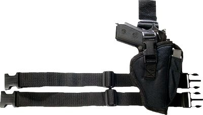 Wear your semiautomatic pistol on your right thigh in a position where your hand can naturally draw it quickly. Its the style of rig worn by many elite law enforcement and military units. The adjustable belt loop and leg straps allow you to customize the fit. An integrated magazine pouch on the front is outfitted with a magazine retention strap. Another retention strap securely holds your side arm in the holster until its needed. Imported. Available: Compact Automatic Fits most compact semiautomatics with 2.5-3.75 barrels Standard Automatic Fits most standard semiautomatics with 2-4 barrels Large-Frame Automatic Fits most large-frame semiautomatics with 3.5-5 barrels Type: Tactical. - $24.99