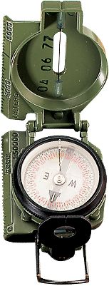 Camp and Hike Use this compass to determine azimuths or bearings, orient a map, determine location of a terrain feature or follow a course. The dial is graduated in degrees and Mils, and the ruled scale helps plot a course. Tritium provides self-illumination. A nylon lanyard and carrying case are included. Color: Green. Gender: Male. Age Group: Adult. Type: Compasses. - $89.99