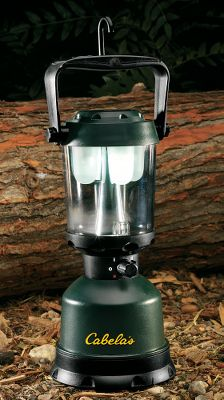Camp and Hike With a turn of the four-position knob, this lantern switches from campsite-illuminating white bulbs to bug-invisible amber bulbs. Its Dynasty High Flux LEDs emit up to 160 lumens with glare-free 360 coverage. The twin-bulb sets run up to 175 hrs on four D batteries (not included). There's even a 1,400-hr.-run-time amber nightlight. Retractable hang hook. Floats, and is IPX-7 waterproof. Color: White. - $29.88
