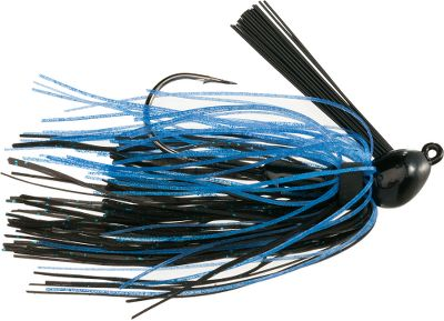 Fishing This small weedless jig is famous for producing big results. Team it with a like-colored tail for tournament-class bottom-bumping action thats great for targeting big bass in thick grass or densely vegetated shorelines. Ultrafine 60-strand skirt. Mustad Ultra Point hook. Per each. Weight: 3/16-oz. Colors: (604)Black/Blue, (605)3D Green Pumpkin,(608)3D Watermelon. Color: Black/Blue. Type: Bass Jigs. - $2.59