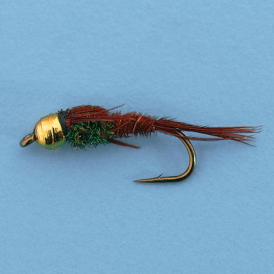 Flyfishing With a tungsten beadhead, the Pheasant Tail nymph becomes even more effective. Tungsten is heavier than brass, so the fly sinks deeper and faster without adding as much cast-impairing lead. This put the flies in front of fish for a longer drift. The Pheasant Tail Nymph remains one of the top mayfly nymph imitations around, and it can be fished in running or still water. Per 12. Sizes: 12, 14, 16. Type: Nymphs. - $22.99