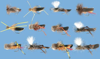 Flyfishing Like a candy to hungry fish, these hoppers imitations will initiate vicious strikes. Includes: four Joes Hoppers, two (size 10) and two (12); eight Daves Hoppers, two Tan (10), two Tan (12), two Yellow (8) and two Yellow (10); four Henrys Fork Hoppers, two (10), two (12); eight Parachute Hoppers, two Tan (8), two Tan (10), two Olive (10), two Olive (12). Available: Assortment only, Assortment with Fly Box (not shown). Color: Yellow. Gender: Male. Age Group: Adult. - $39.99