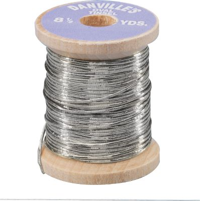 Flyfishing Oval tinsel makes excellent ribbing for wet flies, nymphs and streamers. Adds flash that attracts even the most finicky fish. Per 2 spools. Sizes: Fine, Medium, Large. Colors: Gold, Silver. Size: MEDIUM. Color: Silver. Type: Wire. - $4.49