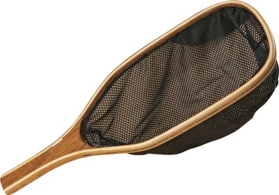 Flyfishing Cabelas Catch-And-Release nets have a fine mesh net bag that is less likely to damage a fish than standard netting. These come with hardwood bows with mahogany handles and a removable elastic cord. Available: Teardrop Net - 22-3/4 overall with a 7-7/16 x 15-1/4 bow and an 15 deep net. Rectangular Net - 21 overall with a 7 x 13-3/4 bow and an 9 deep net. Color: Mahogany. Type: Landing Nets. - $9.99