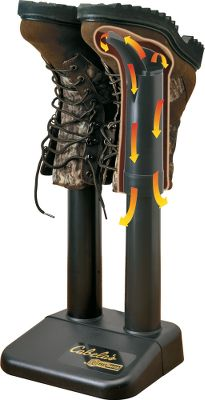 Dont put on a pair of wet boots or waders again. This innovative device will quickly pay for itself by extending the life of all your footwear and waders. Plugs into any 110-volt outlet. Air as warm as 120 will have your boots dry by morning. No fan noise since warm air circulates naturally. Made of heavy-duty plastic for years of service. 25-year warranty. Color/camo pattern:Cabelas Zonz Woodlands, Black. Color: Black. Gender: Male. Age Group: Adult. Type: Dryers. - $35.99