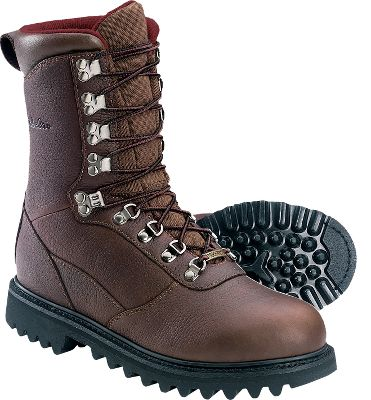 Hunting With a name like Iron Ridge, youd expect these boots to withstand all the abuse dished out during season after season of rugged hunting adventures. Youd also expect them to sport a waterproof, breathable GORE-TEX lining for 100% protection against rain, snow and ground moisture. The uppers are crafted of richly oiled, waterproof full-grain leather. It will conquer battles with the most punishing rocks, brush, briars or blow-downs. The moisture-wicking lining pulls perspiration away from your feet so feet and socks stay dry on long treks over exhausting terrain. And for unbeatable warmth that doesnt add excessive bulk or weight, we added an insulating layer of 800-gram Thinsulate Ultra insulation. The polyurethane footbed adds cushioning, plus it can be removed for quick overnight drying. Goodyear welt construction ensures long-wearing durability, permitting resoling when the time comes. The aggressive bob outsole offers the grabbing power needed to stay safely footed on a variety of surfaces, while a steel shank provides stability on uneven ground. Imported. Ht: 10. Avg. wt: 3.9 lbs./pair. Mens sizes: 7-16 D and EE widths. Half sizes to 12. Size: 11.5. Color: Brown. Gender: Male. Age Group: Adult. Material: Leather. Type: Boots. - $119.99